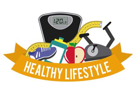 healthy lifestyle graphic design , vector illustration 向量圖像