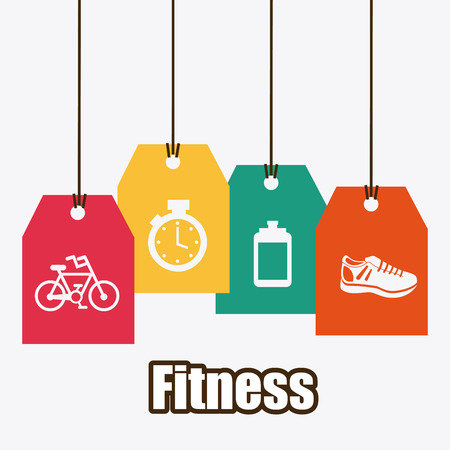 fitness graphic design , vector illustration