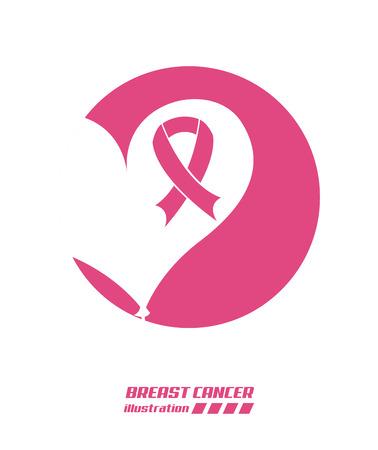 breast cancer graphic design , vector illustration Illustration