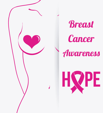 breast cancer graphic design , vector illustration Ilustração