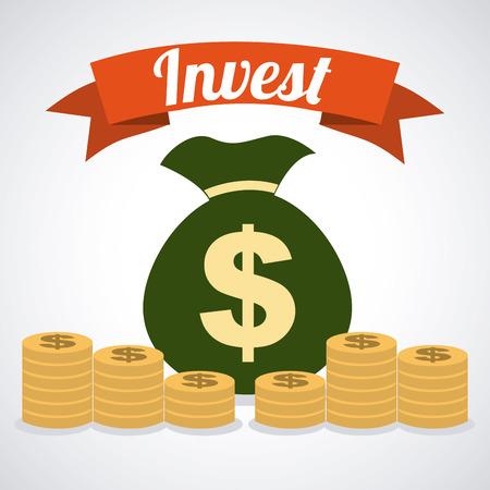 invest graphic design , vector illustration Illustration