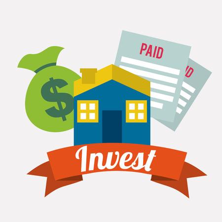 invest: invest graphic design , vector illustration Illustration