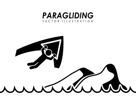 paragliding: paragliding graphic design , vector illustration Illustration