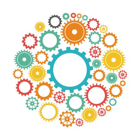 gears graphic design , vector illustration