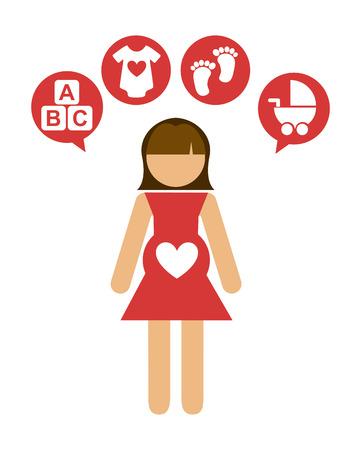 pregnancy graphic design , vector illustration Vector