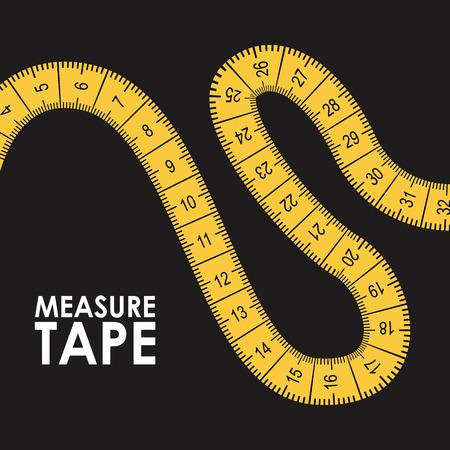 Cinta métrica de diseño gráfico, ilustración vectorial Foto de archivo - 32024426