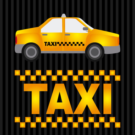 business class travel: taxi graphic design , vector illustration