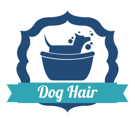 dog grooming: pet graphic design , vector illustration