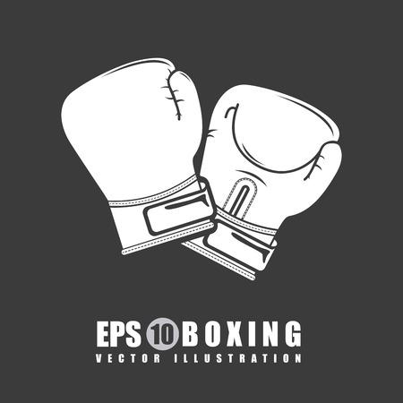 boxing graphic design , vector illustration Ilustracja