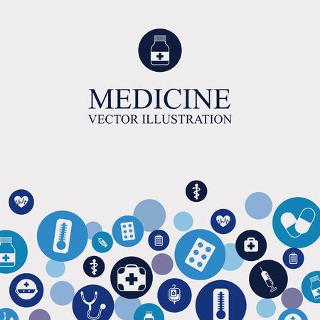 medical bottle: medical graphic design , vector illustration Illustration