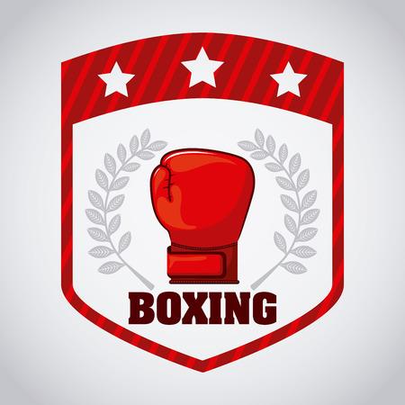 sports icon: dise�o gr�fico boxeo, ilustraci�n vectorial Vectores