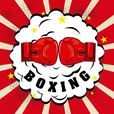 sports equipment: boxing graphic design , vector illustration Illustration