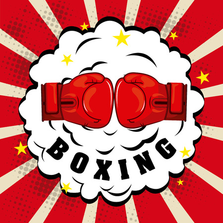 boxing graphic design , vector illustration Illustration