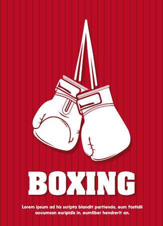 guantes de box: dise�o gr�fico boxeo, ilustraci�n vectorial Vectores