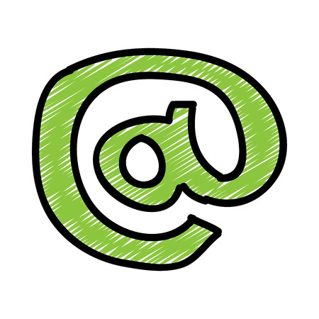 arobase: symbol graphic design , vector illustration