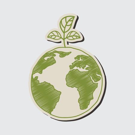simplified: eco graphic design , vector illustration