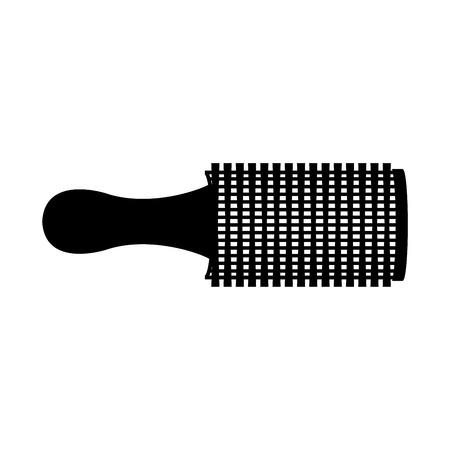 hair brush graphic design , vector illustration