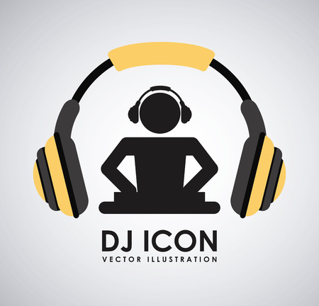 dj turntable: dj icon graphic design , vector illustration Illustration