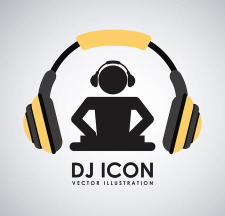 dj turntable: dj icon graphic design , vector illustration Illustration