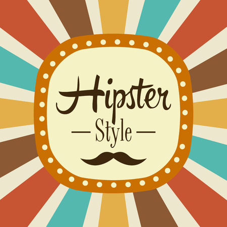 hipster graphic design , vector illustration Vector