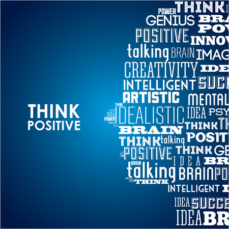 positive thinking: think positive graphic design , vector illustration