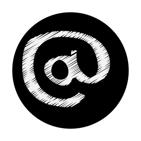 arobase: aroba graphic design , vector illustration