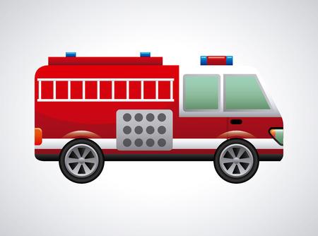 Coche de bomberos del diseño gráfico, la ilustración vectorial Foto de archivo - 32083161