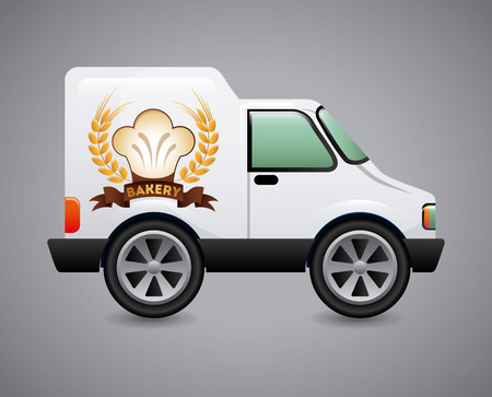 bakery car graphic design , vector illustration Vector