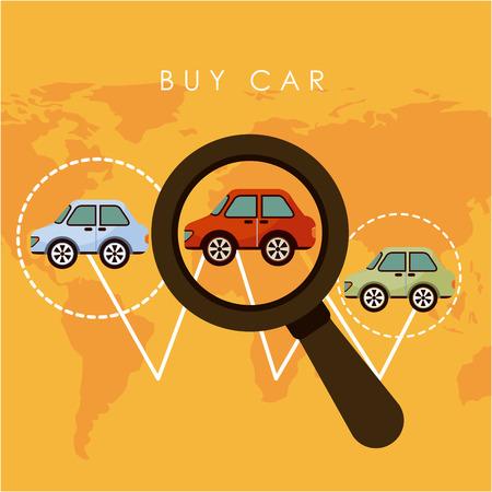 choise: buy car graphic design , vector illustration Illustration