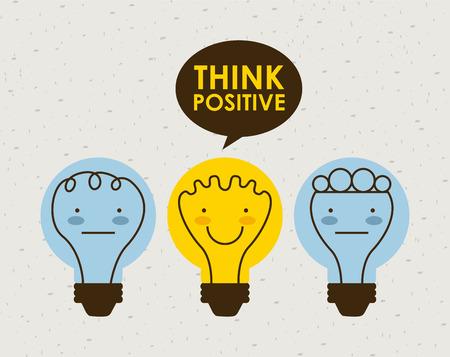 positiv denken Grafik-Design, Vektor-Illustration