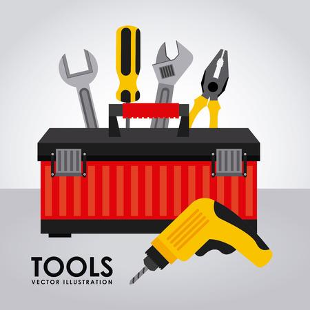 herramientas de mec�nica: herramientas de dise�o gr�fico, ilustraci�n vectorial