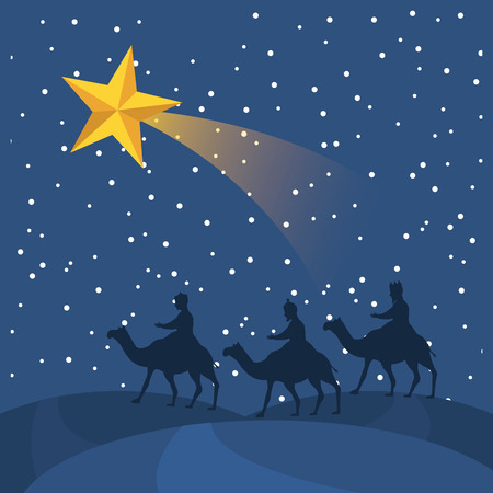 epiphany: christmas graphic design , vector illustration