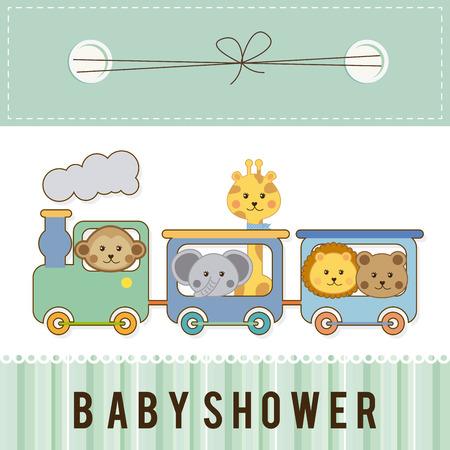 Ducha del bebé de diseño gráfico, ilustración vectorial Foto de archivo - 32083772