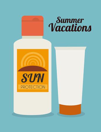 whiteblue: Summer design over whiteblue  background, vector illustration Illustration
