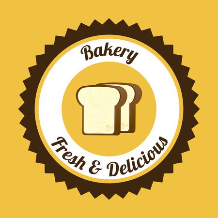 yelllow: Food design over yelllow background, vector illustration