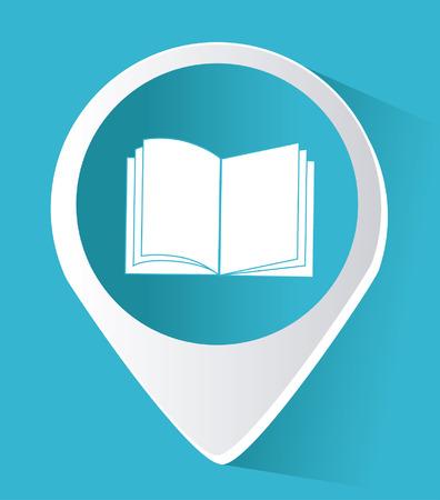 nternet: eBook design over blue background, vector illustration