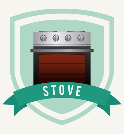 gas cooker: stove graphic design , vector illustration