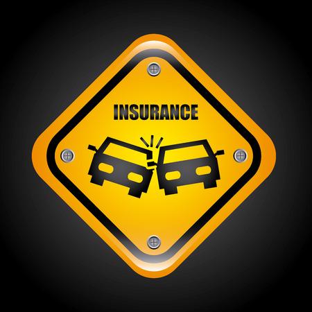 accident car: insurance graphic design , vector illustration