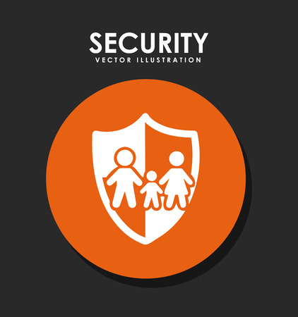 safe guard: insurance graphic design , vector illustration