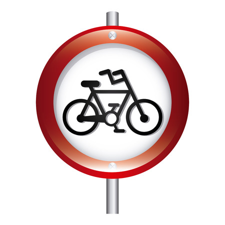 bicycle signal graphic design , vector illustration Vector