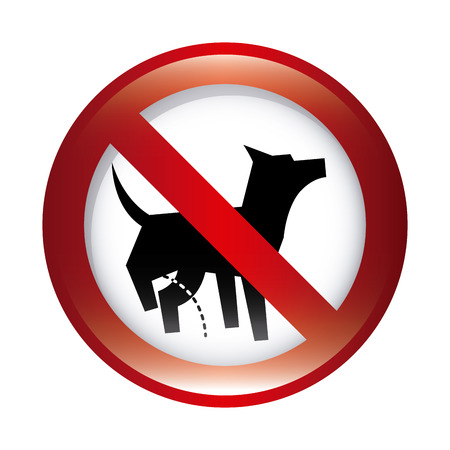 entrance is forbidden: forbidden dog graphic design , vector illustration Illustration