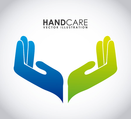 two: hand care graphic design , vector illustration Illustration