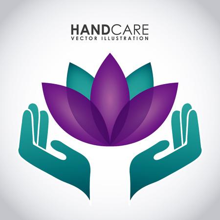 soins mains: soins des mains conception graphique, illustration vectorielle Illustration