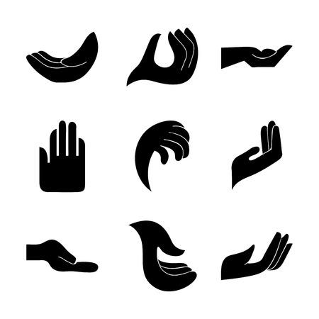 caring hands: hand care graphic design , vector illustration Illustration