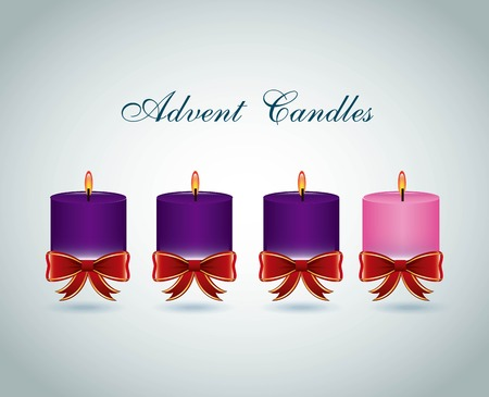 advent candles graphic design , vector illustration