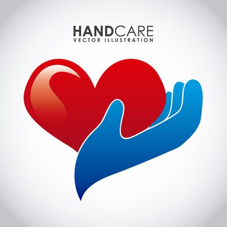 soins mains: soins des mains conception graphique, illustration Illustration