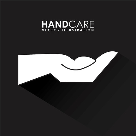 hand care graphic design , vector illustration Vector