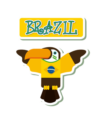 tucan: brazil graphic design , vector illustration Illustration