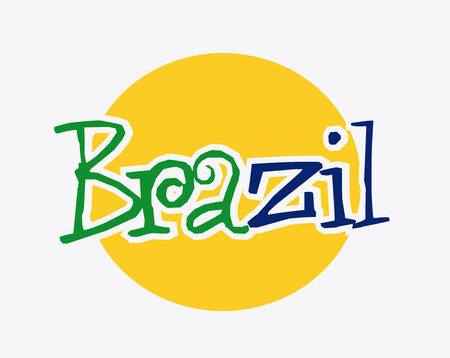 brazil graphic design , vector illustration Vector