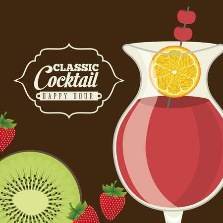cocktail graphic design , vector illustration Vector